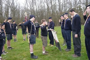 Scout faisant sa Promesse